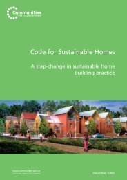 Code for Sustainable Homes - Planning Portal