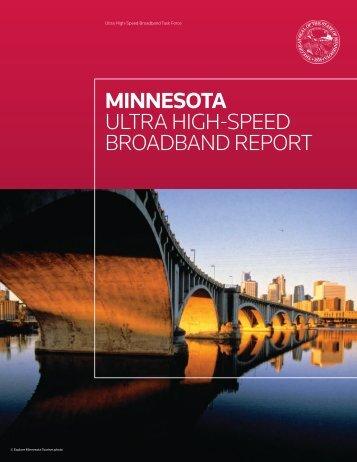 MINNESOTA ULTRA HIGH-SPEED BROADBAND REPORT
