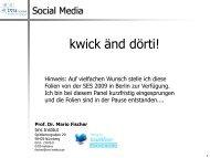 Vortrag Social Media - Mario Fischer