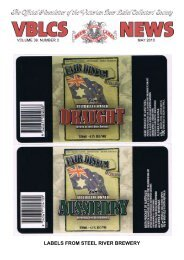 labels from steel river brewery - The Victorian Beer label Collectors ...
