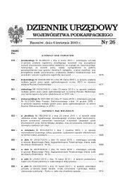 Dz. U. Woj. Podkarpackiego z dnia 6 kwietnia 2010 r. Nr 26, poz. 594