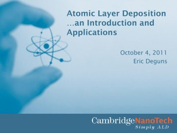 Introduction To Atomic Layer Deposition