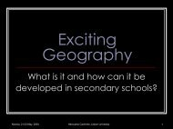 Exciting Geography