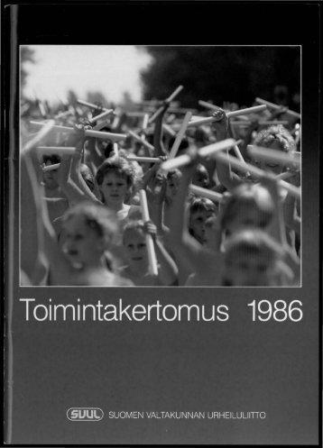 svul:n järjestötapahtumia 1986