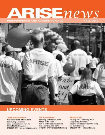 UPCOMING EVENTS - Arise