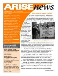 Summer 2010 Newsletter - low resolution - Arise