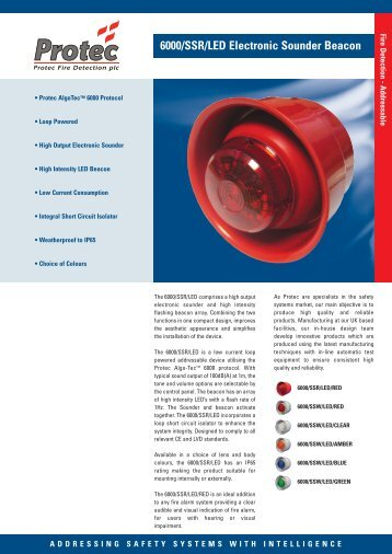 6000/SSR/LED Electronic Sounder Beacon - Protec Fire Detection