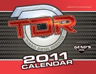 CALENDAR - Turbo Diesel Register