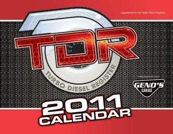 CALENDAR - Turbo Diesel Register