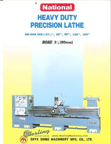 National HeavyDuty Precision Lathe HG660 26D 60 80 120 160 ...