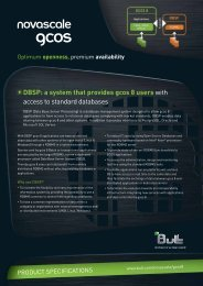 spec sheet DBSP - Bull