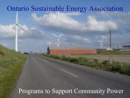 Ontario Sustainable Energy Association - Green Rural Opportunities ...