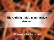 Hidraulinių tinklų monitoringo sistema