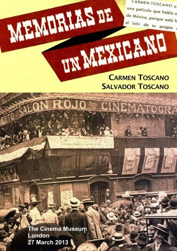 """Memorias de un Mexicano"" - brochure - The Cinema Museum"