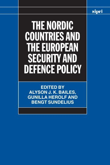 The Nordic Countries and the European Security and Defence Policy