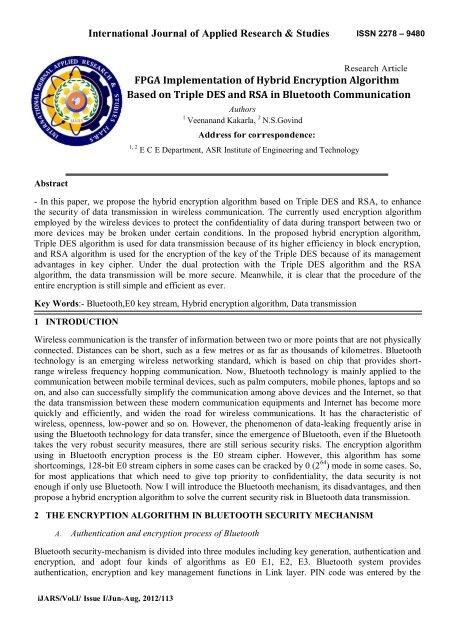 FPGA Implementation of Hybrid Encryption Algorithm Based on