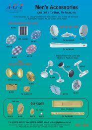 Mens' jewellery brochure - AGThomas