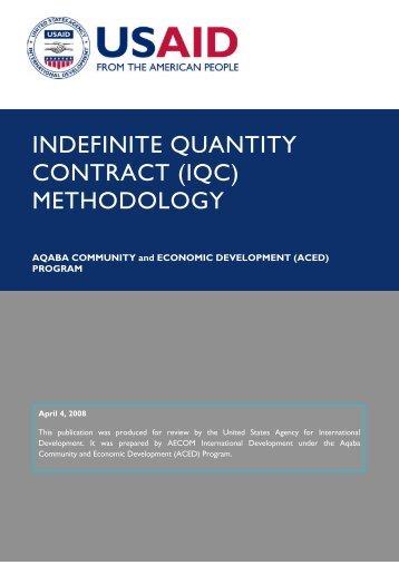 INDEFINITE QUANTITY CONTRACT (IQC) - Aced-jordan.com