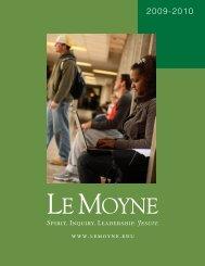 2009-2010 Catalog (pdf) - Le Moyne College