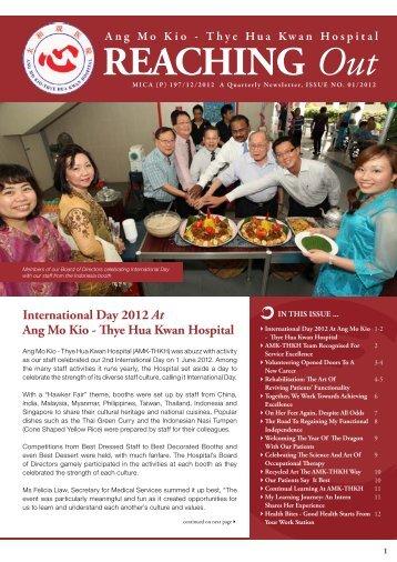 AMK-THKH Newsletter Issue 1 of 2012 - Thye Hua Kwan Hospital