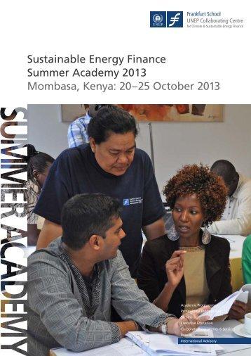 Sustainable Energy Finance Summer Academy 2013 Mombasa ...