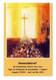 GEMEINDEBRIEF April-Mai 2010 - Katholische Kirchengemeinde ...
