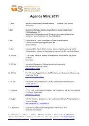 Agenda März 2011 - SGBF-SSMSR
