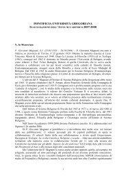 Inaugurazione Anno Accademico 2007-2008 - Pontifical Gregorian ...
