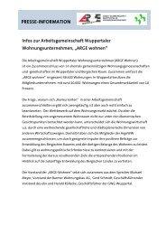 Prämien für kreative Schüler - GWG Wuppertal