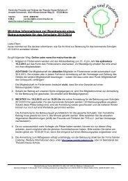 Wichtige Informationen zur Beantragung eines Betreuungsplatz für ...