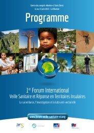 programme - Veille Sanitaire et Réponse en Territoires Insulaires