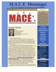 M.A.C.E. Messenger - Montana Chamber of Commerce