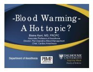 Blood Warming a Hot Topic - Government of Nova Scotia