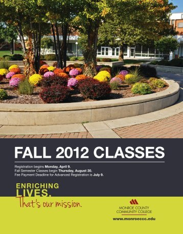 FALL 2012 CLASSES - Monroe County Community College