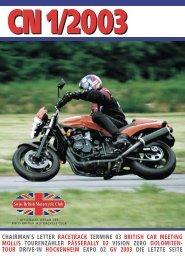CN 1/2003 - Swiss British Motorcycle Club
