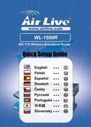 WL-1500R Quick Setup Guide - AirLive