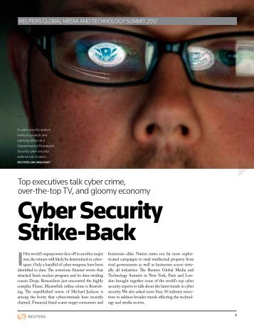 Cyber Security Strike-Back - Thomson Reuters