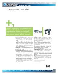 HP Designjet 4500 Printer series - LexJet