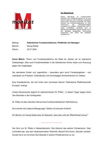 MONITOR vom 22.07.2004 - WDR.de