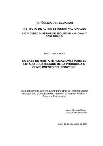 TESIS - ROJAS.pdf - Repositorio Digital IAEN - Instituto de Altos ...