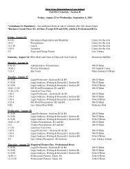 Printable Schedule - SUNY Buffalo Law School