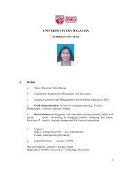 UPM :: Fakulti Ekonomi dan Pengurusan - Universiti Putra Malaysia