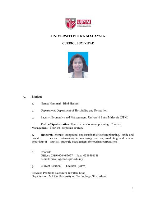 Upm Fakulti Ekonomi Dan Pengurusan Universiti Putra Malaysia