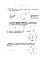 Geometry 10-4 Inscribed Angles