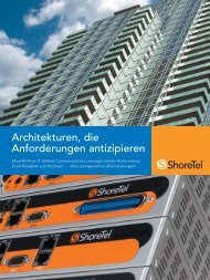ShoreTel - Unternehmensbroschüre (DE) - NCC Systems GmbH