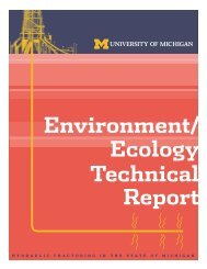 Environment/ Ecology Technical Report - Catskill Citizens for Safe ...