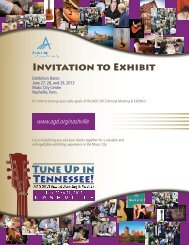 Invitation to Exhibit - Academy of General Dentistry