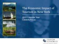 The Economic Impact of Tourism in New York -- Catskills