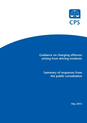 Summary of responses - Crown Prosecution Service