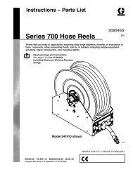 308546S Series 700 Hose Reels, Instructions-Parts ... - Graco Inc.